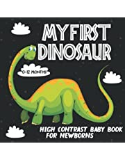 My First Dinosaur, High Contrast Baby Book for Newborns, 0-12 Months: black white book newborn, Full of Dinosaurs Themed Images Patterns to ... Baby's Eyesight , (Visual Stimulation Book)