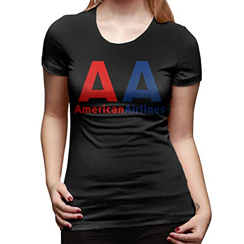American Airlines Logo Crew Neck Short Sleeve Womens Casual Tee T-Shirt Tops ()