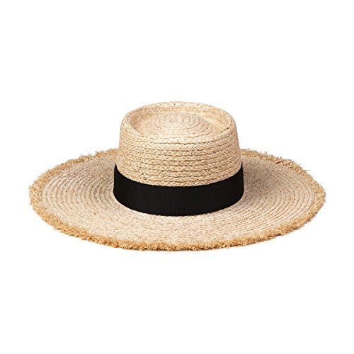 Lack of Color Women's Ventura Raffia Straw Wide-Brimmed Boater Hat