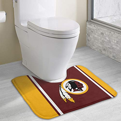 Marrytiny Custom Colourful Non Slip U-Shaped Toilet Bath Rug Washington Redskins Football Team Anti-Bacterial Floor Contour Doormat Shower Mat Bathroom Carpet 19.3 x 15.7 Inches