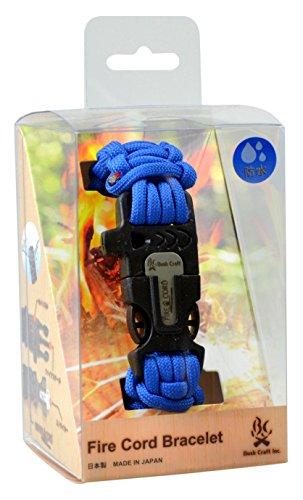 Bush Craft (bush craft) fire cord bracelet (string, small metal match cored become ignition agent) 02-03-550f-0013 royal blue L by Bush Craft (Bush Craft)