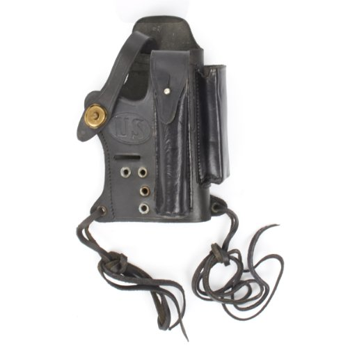 U.S. Walther P-22 Compatible Black Leather Holster with Magazine and Silencer Pockets (Best Suppressor For Walther P22)