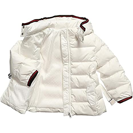 bbbfe6024 Gucci Baby Girls White Belted Down Feather Ski Jacket 9m/12m Made in Italy  BNWT: Amazon.co.uk: Clothing