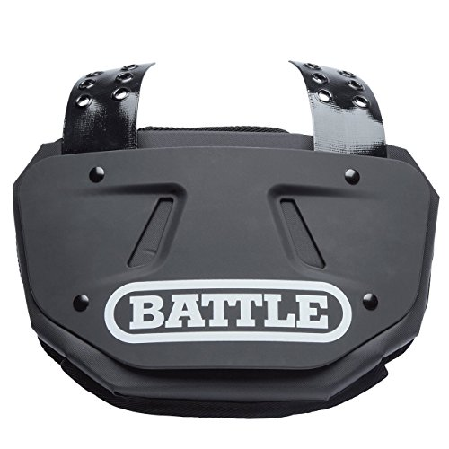 Battle Sports Football Back Plate, Black, Adult