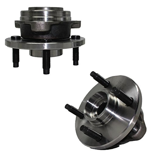 Detroit Axle - NO ABS Pair (2) Front Driver and Passenger Wheel Hub and Bearing Assembly Set fits Non-ABS 4-Lug Models For - Cobalt, G5, Pursuit, (Front Wheel Hub Set)