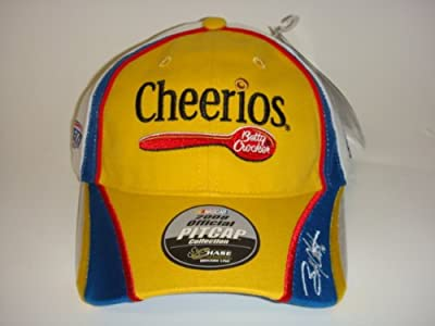 NASCAR 2008 Throwback Cheerios #43 Bobby Labonte Adjustable Back Pit Cap by Chase Authentics