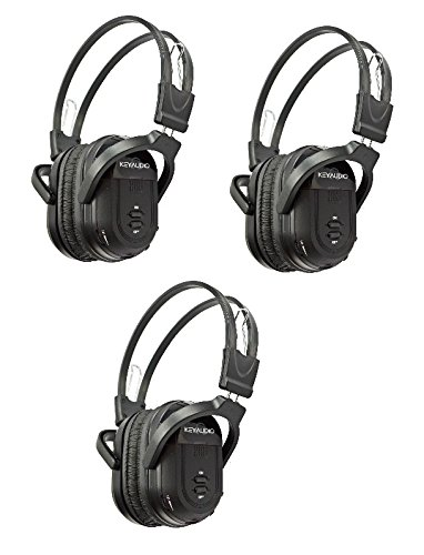 3 Pack of Two Channel Folding Adjustable Infrared Headphone for In Car Rear Entertainment Systems (3)