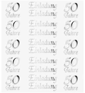 HOBBY Design Sticker, Einladung 50 Jahre Silber
