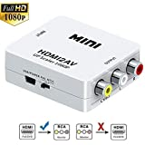 Hyme Hdmi2Av Standard Hdmi Interface Mini Hd Video Hdmi to Av/Cvsb Video Hdmi to Av Adapter 1080P