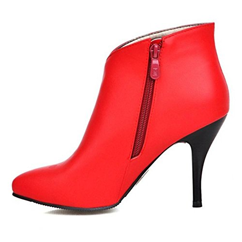 Bottes Cheville Femmes Automne red TAOFFEN qnXBxtvwUn