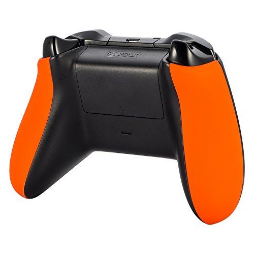 eXtremeRate Orange Soft Touch Left Right Panel Handle Side Rails Replacement Parts for Xbox One Controller