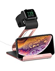 Apple Watch Stand, Mercase iWatch Night Mode Stand Phone Charging Station Charger Holder for Apple Watch Series 1/Series 2/Series 3 (42mm 38mm) iPhone Samsung and iPad, Tablet