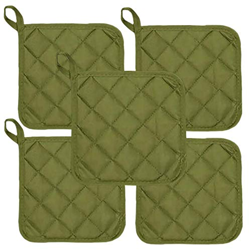 Green Pot Holder - Sage Green Heat Resistant Pot Holders 6.5