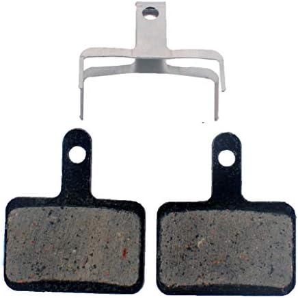 自転車用ディスクブレーキパッド 樹脂 バックプレート付き 部品 4ペア入