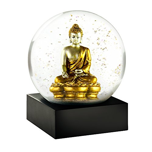CoolSnowGlobes Gold Buddha Snow Globe by CoolSnowGlobes
