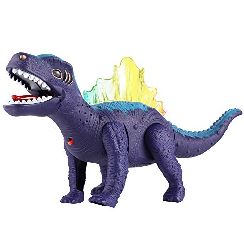WANGGOOH LED Light Up and Walking Realistic Dinosaur Toy Roaring Sound with Swinging Tail Action,Dinosaur Toys for 3-12 Year Old Toddler Boy Girl Gift -