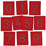 Betzold  85762 Sandpapier Punkte Set, 10 Stück, rot, 16 x 13 cm