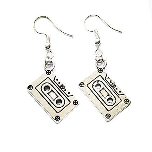 Alloy Cassette - Cassette Earrings - Mixtape Geek Nerd Earrings Retro Funky Jewelry Funny Earrings Cute Earrings Quirky Old School 80s 90s Punk Rock Groovy