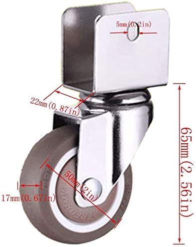 duraderos y f/áciles de instalar ruedas giratorias silenciosas Juego de 4 ruedas giratorias 2 con frenos carritos reemplazables sillas LBBZJM 22 mm para cunas con forma de U 4 /× sin freno