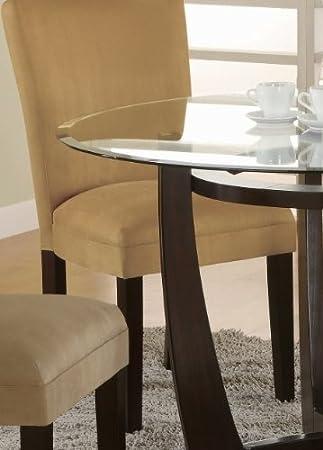 Amazoncom4 new Parson Chairs With Cherry LegsMicrofiber