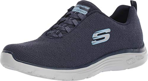 Skechers Relaxed Fit Empire Burn Bright Womens Slip On Sneakers Navy - Sneakers Bright