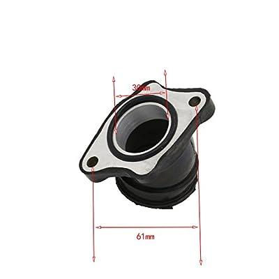 34MM Carburetor Rubber Angled Adapter Inlet Intake For OKO KEIHIN Mikuni Carb
