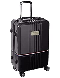 Tommy Hilfiger Duo Chrome 24-Inch Spinner Luggage, Gray/Black, One Size