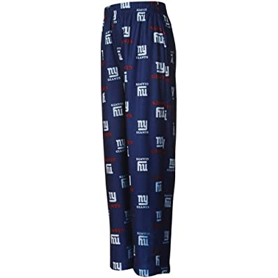 NFL New York Giants Preschool Allover Logo Flannel Pajama Pants - Royal Blue