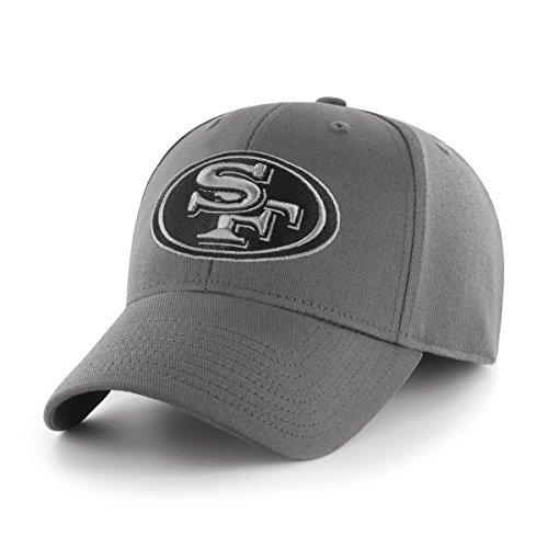 (OTS Adult Men's NFL Comer Center Stretch Fit Hat, Charcoal, Large/X-Large)