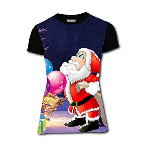 Women's Merry Christmas 3 D T-Shirt Printing/Leisure Summer - Mom Carey Mariah