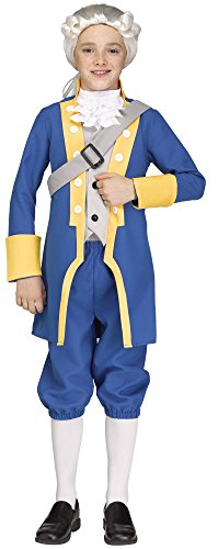 Fun World Big Boy's Sml/George Washington Chld Childrens Costume, Multi, Small -