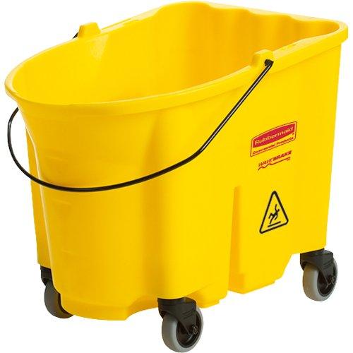 Wavebrake 35 Quart Bucket (Rubbermaid Commercial FG757088BRN WaveBrake Bucket, 35-Quart Capacity, Brown)