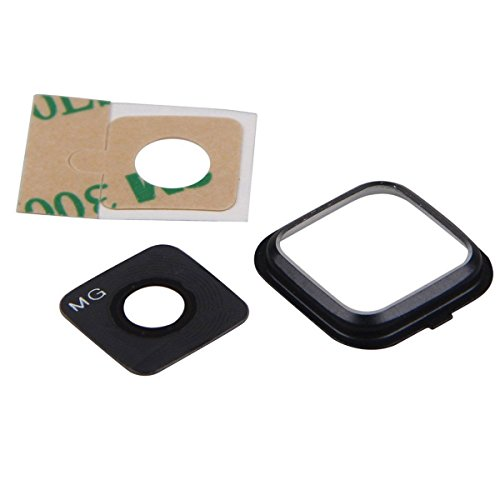 (ThePerfectPart OEM Back Rear Camera Glass Lens Cover Ring Replacement Black Color + Adhesive for Samsung Galaxy Note 4 N910 N910A, N910V, N910T, N910P, N910R4 (Black))