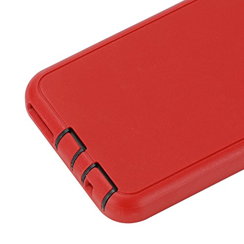 Co-Goldguard Case for iPhone 6s Plus/6 Plus,Heavy Duty 3 in 1 Built-in Screen Protector Cover Dust-Proof Shockproof Drop-Proof Scratch-Resistant Shell for iPhone 6Plus/6sPlus 5.5inch,Red/Black
