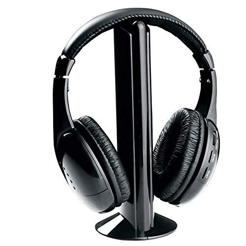 ZTY66 5 in1 Hi-Fi Wireless Headphones Earphone Headset for PC Laptop TV FM Radio MP3
