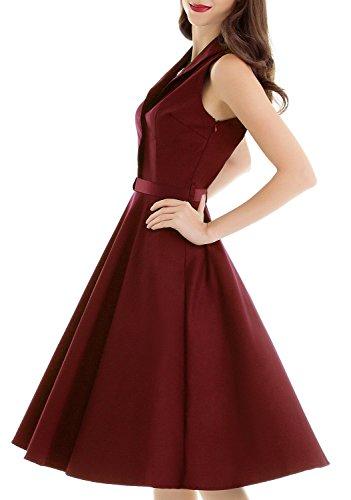 Vintage loves retro polka dots online shopping spotty dresses uk WINE XL