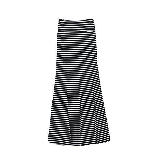 long black and white striped dress - 9