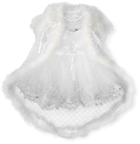 Pretty Me, USA Baby Girls' Olivia Christening Dress, White, 24 Months/X Large