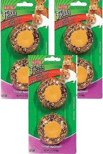 (3 Pack) Kaytee Fiesta Yogurt Cup Strawberry Banana Flavored Treats for Small Animals, 6 Total Treats
