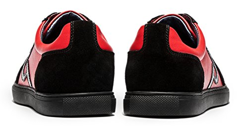 OPP Herren beiläufige weichem Echtes Leder Entwurfs Spitze-up Loafer Schuhe Rot