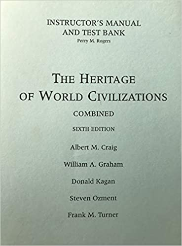 The Heritage Of World Civilizations Instructor S Manual And