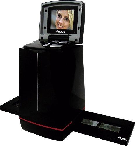 Rollei DF-S 120 SE Scanner (5 Megapixel Dia/Negativscanner 6, 1 cm ( 2, 4 Zoll) Display, 3600 DPI, 10 Bits pro Farbkanal, TV-Ausgang, 32 MB Speicher)