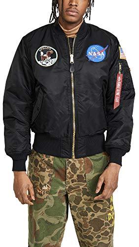 Alpha Industries Coats - Alpha Industries Men's NASA Apollo MA-1 Bomber Jacket, Black, XX-Large