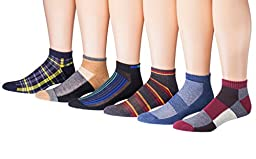 James Fiallo Mens 12-pack Low Cut Athletic Socks (12 Pack, 2904B)Assorted, Shoe size 6-12 (sock size 10-13)