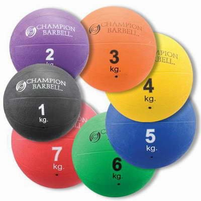 Champion Barbell Complete Rubber Medicine Ball Pak by Champion Barbell