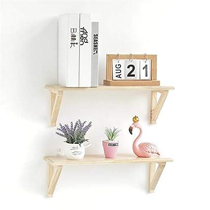 Bathroom Shelves 1 Pc Wall Shelf Creative Decorative Solid Wood Sundries Organizer Bookshelf Storage Rack For Storage Flower Pot Sunglasses Books
