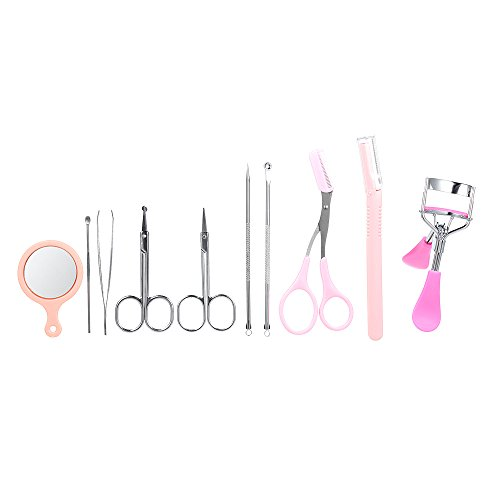 Anself 10pcs Eyebrow Tools Tweezers Trimmer Scissors for sale  Delivered anywhere in USA
