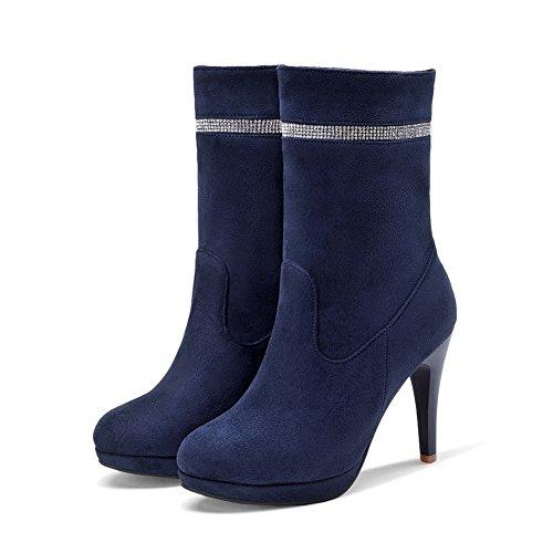 Adeesu Adeesu Alta Mujer Zapatilla Mujer Azul Alta Zapatilla Zapatilla Alta Adeesu Mujer Azul Azul XTxFq