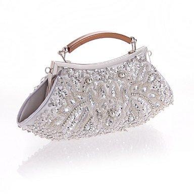 perles en Silver Sacs Femmes de soirée HFcwaOWp