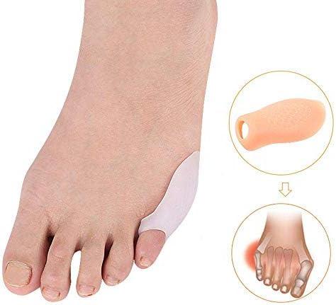 Tatapai Orthopädische Einlegesohlen 1 Paar Silikon Überlappender Hammer Toe Separator Corrector Gel Fußpflege Protectorfinger Separators-Beige